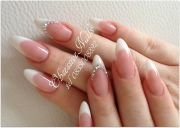 pointed almond french nails