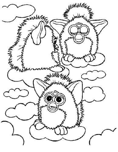 72 best images about furby coloring pages on Pinterest