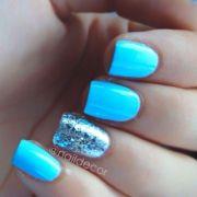 1000 ideas neon blue nails