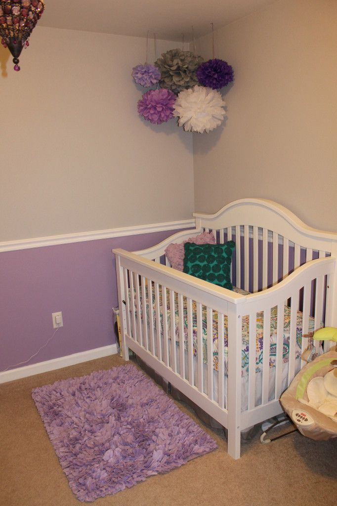 Lavender  Gray nursery  In the corner The purple and