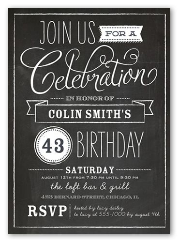 25 Best Ideas About Birthday Invitations Adult On