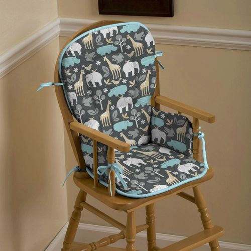 wooden high chair pad. Need to make one of these!