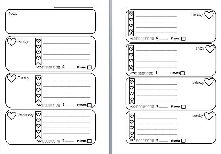Wk/2 pgs, super cute heart checklist. ~ MsWenduhh Planning