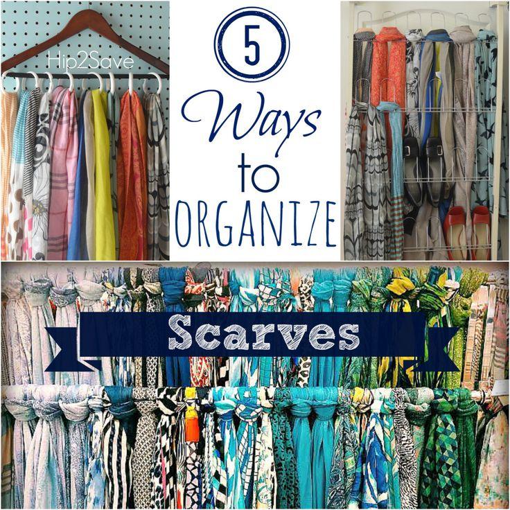 25+ best ideas about Organize Scarves on Pinterest
