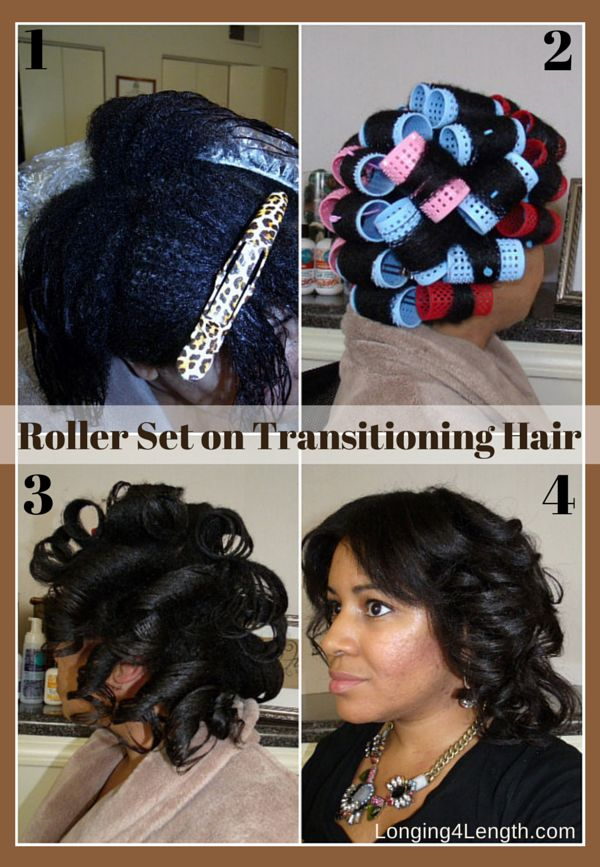 Roller Set On Transitioning Hair Good Hair In A Bottle