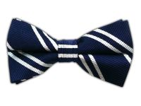 Double Stripe - Navy (Bow Ties) || BowTie - Double Stripe ...