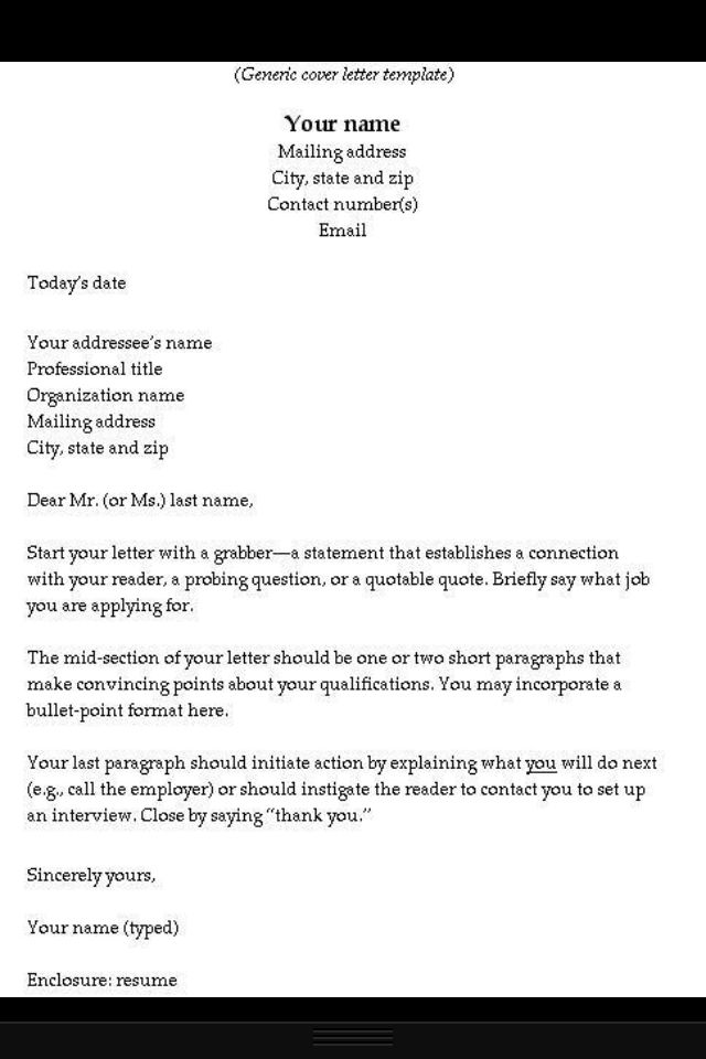How to write a cover letter  Helpful  Pinterest  Simple Cover letter template and Letter