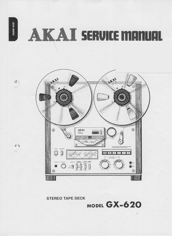 Akai GX-620 reel tape recorder Service Manual 100