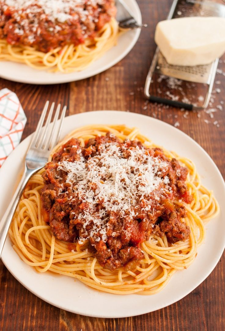 Making a good bolognese sauce is a real labor of love. Sure, you could just add some ground beef to a tomato sauce and call it