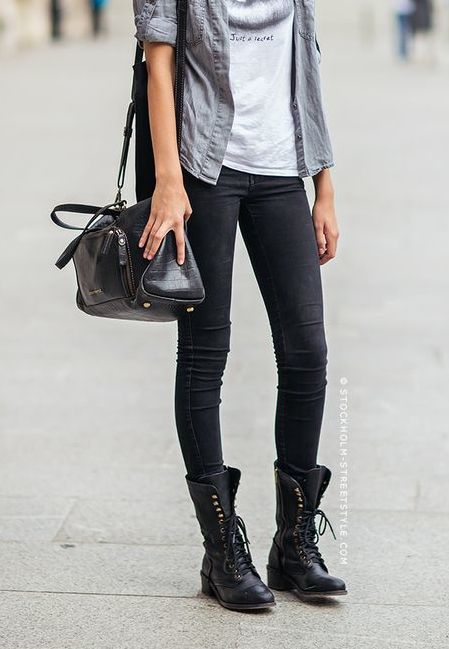 1000 Ideas About Combat Boot Outfits On Pinterest Fall