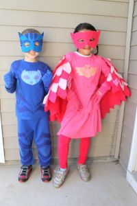diy pj masks costume, no sewing how to catboy and owlet ...