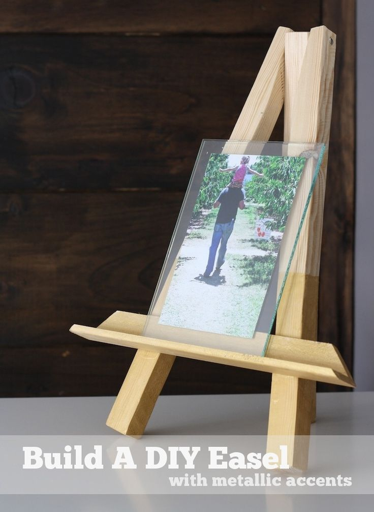 DIY easels for Pictionary guest book Set up 3 easels with