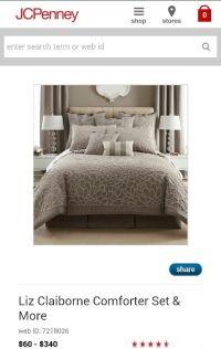 Jcpenney Liz Claiborne comforter set | Decor and Furniture ...