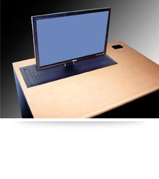 The Trolley EClass  computer desk with automated