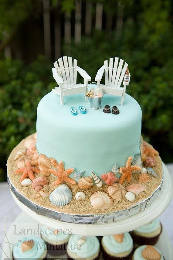 The EVERYTHING YOU SEE Set Beach Theme Wedding Cake