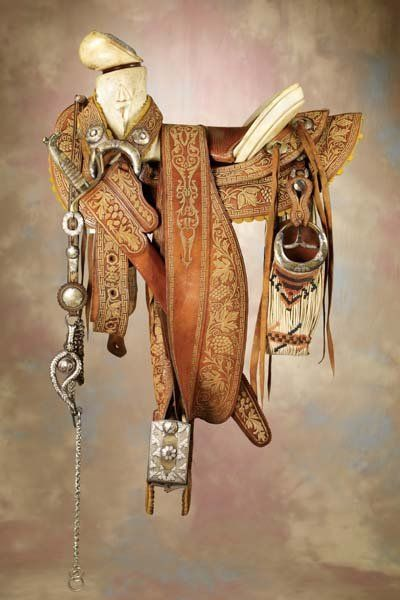Fancy Mexican Saddle Sword Bridle  Cinch Ensemble  2