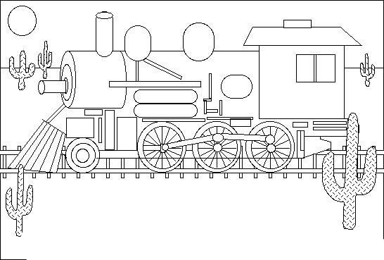 Jupiter Steam Locomotive Pages Coloring Pages