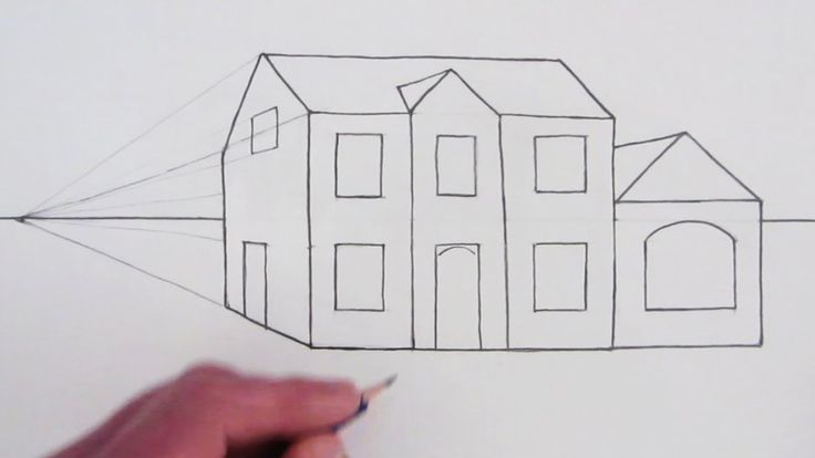 How to Draw a Simple House in OnePoint Perspective