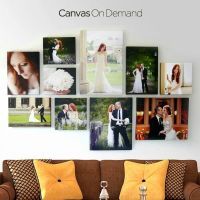 Wedding canvas photos wall, would look good in the bedroom ...