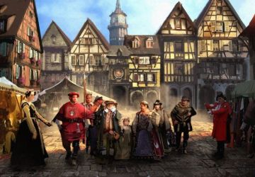 medieval fantasy town market rpg atmosphere places artwork audio music dance landscape mixer game manor ambient