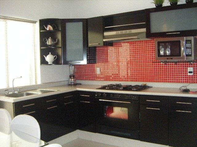 Azulejo rojo para la cocina  sala detalles  Pinterest