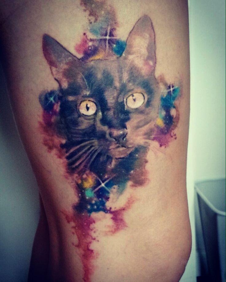 25+ Best Watercolor Cat Tattoo Ideas On Pinterest Cat