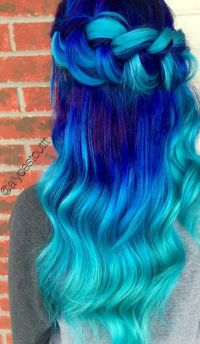 Best 25+ Bright blue hair ideas on Pinterest