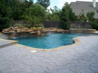Residential Pool #004 - Custom Pool and Spa with elevated ...