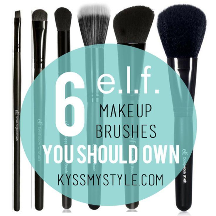 Six e.l.f. brushes you shou
