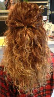 curly hair. long hair ombr