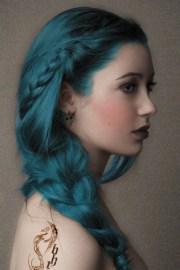 lovely blue green hair color
