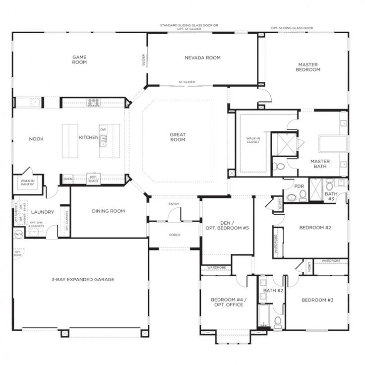 25 Best Ideas About One Level House Plans On Pinterest One