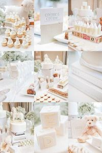25+ best ideas about White Baby Showers on Pinterest ...