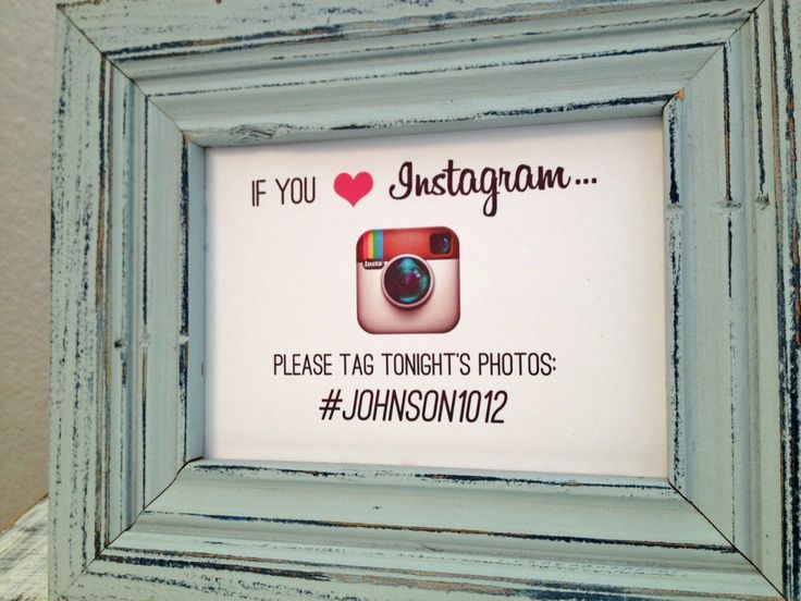 instagram sign with hashtag  40th Birthday Party  Pinterest  My wedding Unique photo and Signs