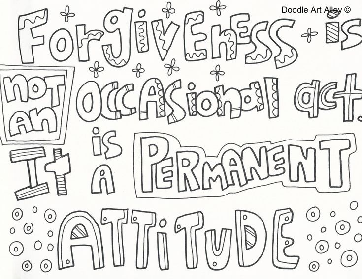 Forgiveness Pages Coloring Pages