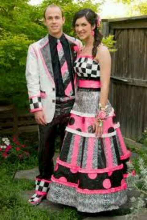 Duct tape dress and tux  Duct Tape  Pinterest  Duct