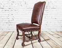 Rustic Leather Dining Room Chairs