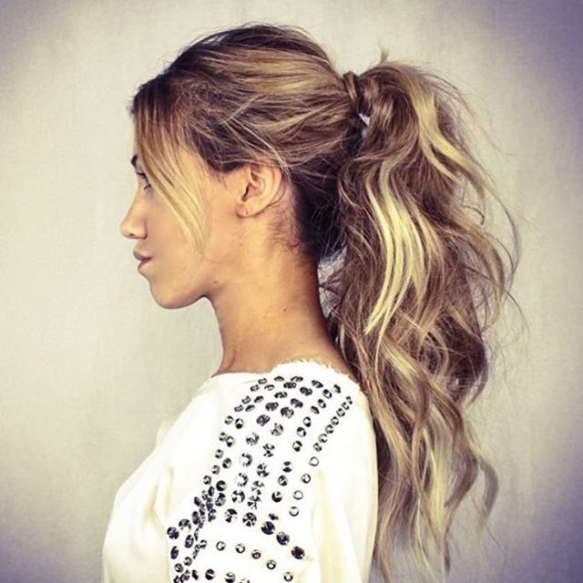 25 Best Ideas About Messy Ponytail Hairstyles On Pinterest