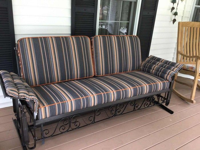 Customers Restored Vintage Glider With Custom Cushions In