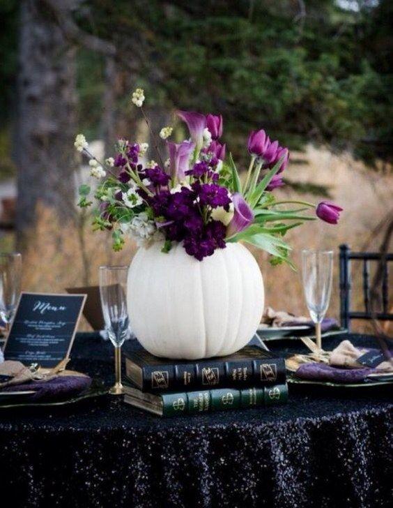 17 Best ideas about Halloween Wedding Centerpieces on