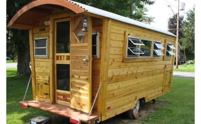 Vintage Camper Converted Into A Gypsy Wagon Tiny House