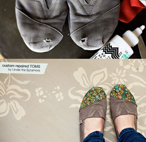 Repair you toms! Mine had a huge hole in the toe, and I couldnt bear to toss the