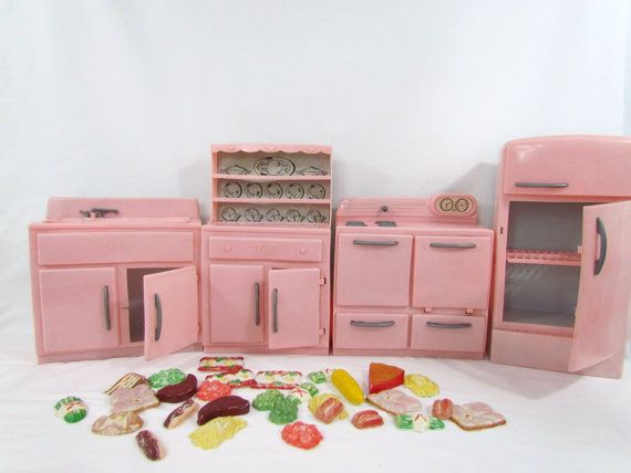 toy kitchens corner kitchen bench tico vintage set with food plastic chldren's ...