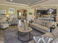 nice Great Transitional Living Room with Crown molding by