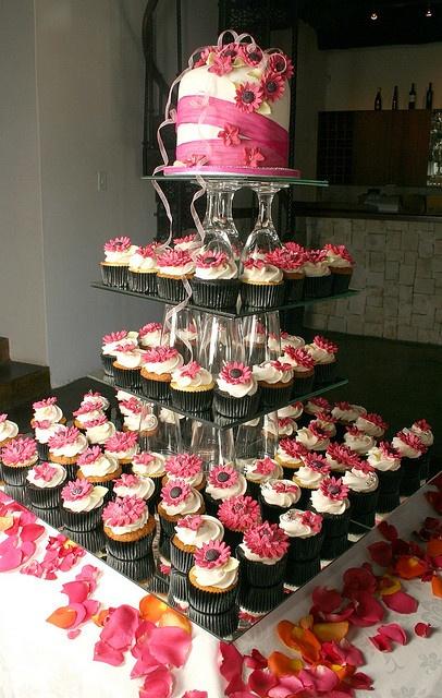 Hot Pink Wedding Tower By Dot Klerck Via Flickr