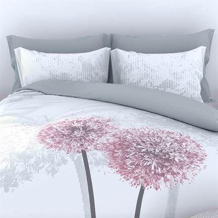 Romanette Dandelion flanel dekbedovertrek  Paardenbloemen