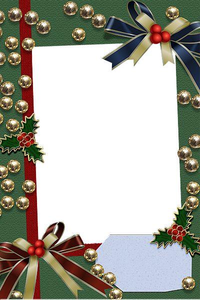Christmas Frames Christmas Green Transparent Frame