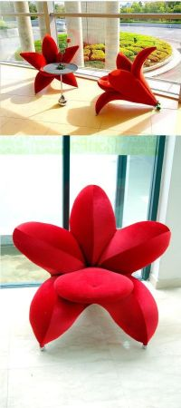 Red Blossom Flower Chair   Chairs, Flower and Blossoms