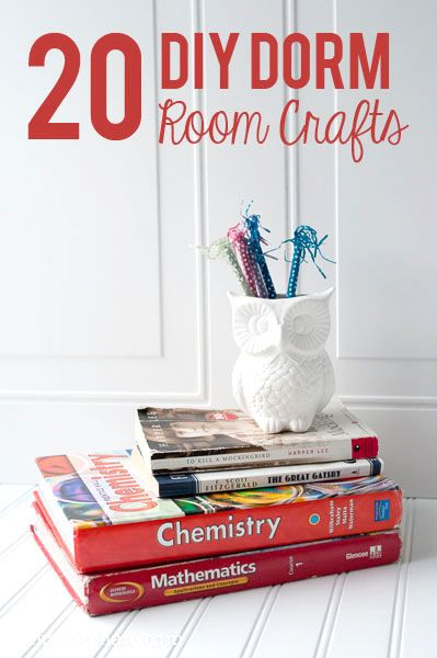 20 DIY Dorm Room Craft Ideas The Polka Dot Chair