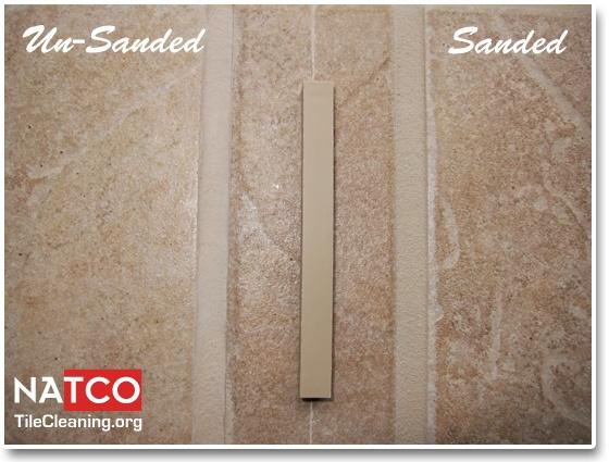 kitchen island with cooktop fan filter sandstone beige tec grout color sanded vs unsanded ...